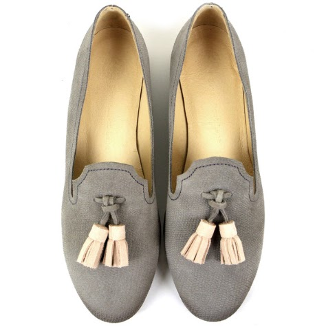 Seven Boot Lane Dixie Grey Emboss Suede Loafer