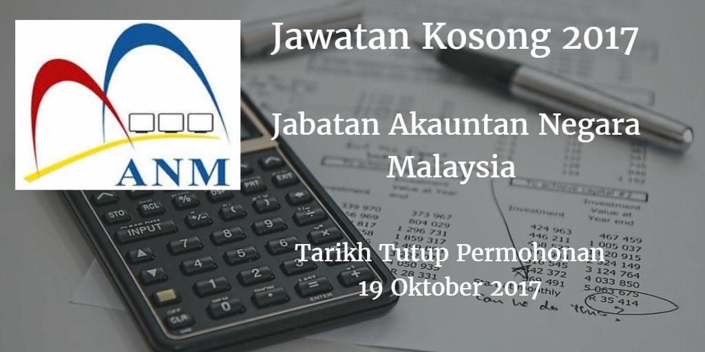 Jawatan Kosong Jabatan ANM Negeri Pahang 19 Oktober 2017