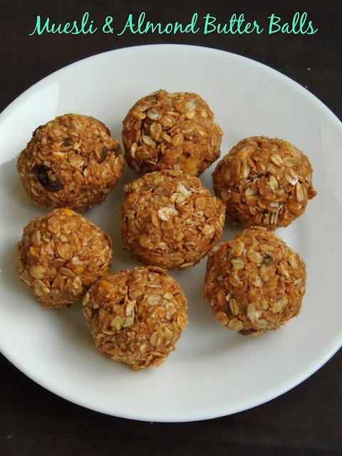 Muesli Energy balls, Almond butter & muesli balls