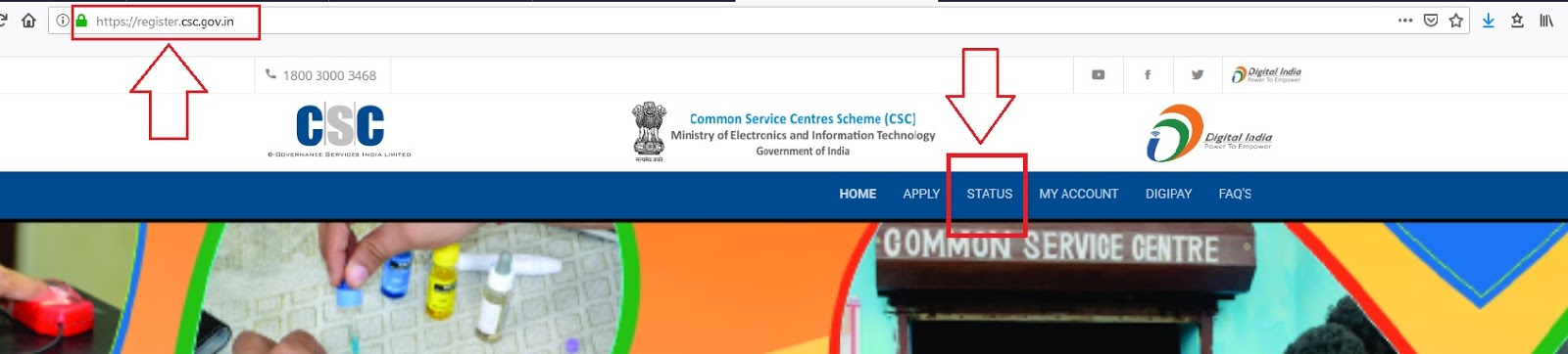 csc registration status check