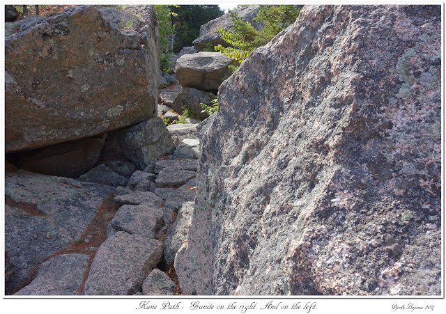 Kane Path: Granite on the right. And on the left.