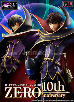 Figura Lelouch Lamperouge Zero 10th anniversary G.E.M. Edición Limitada CODE GEASS Lelouch of the Rebellion R2