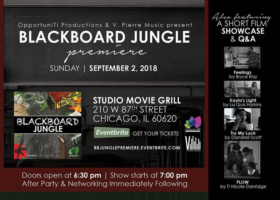 "NEWS: Blackboard Jungle Premiere (featuring ""Try My Luck"")"