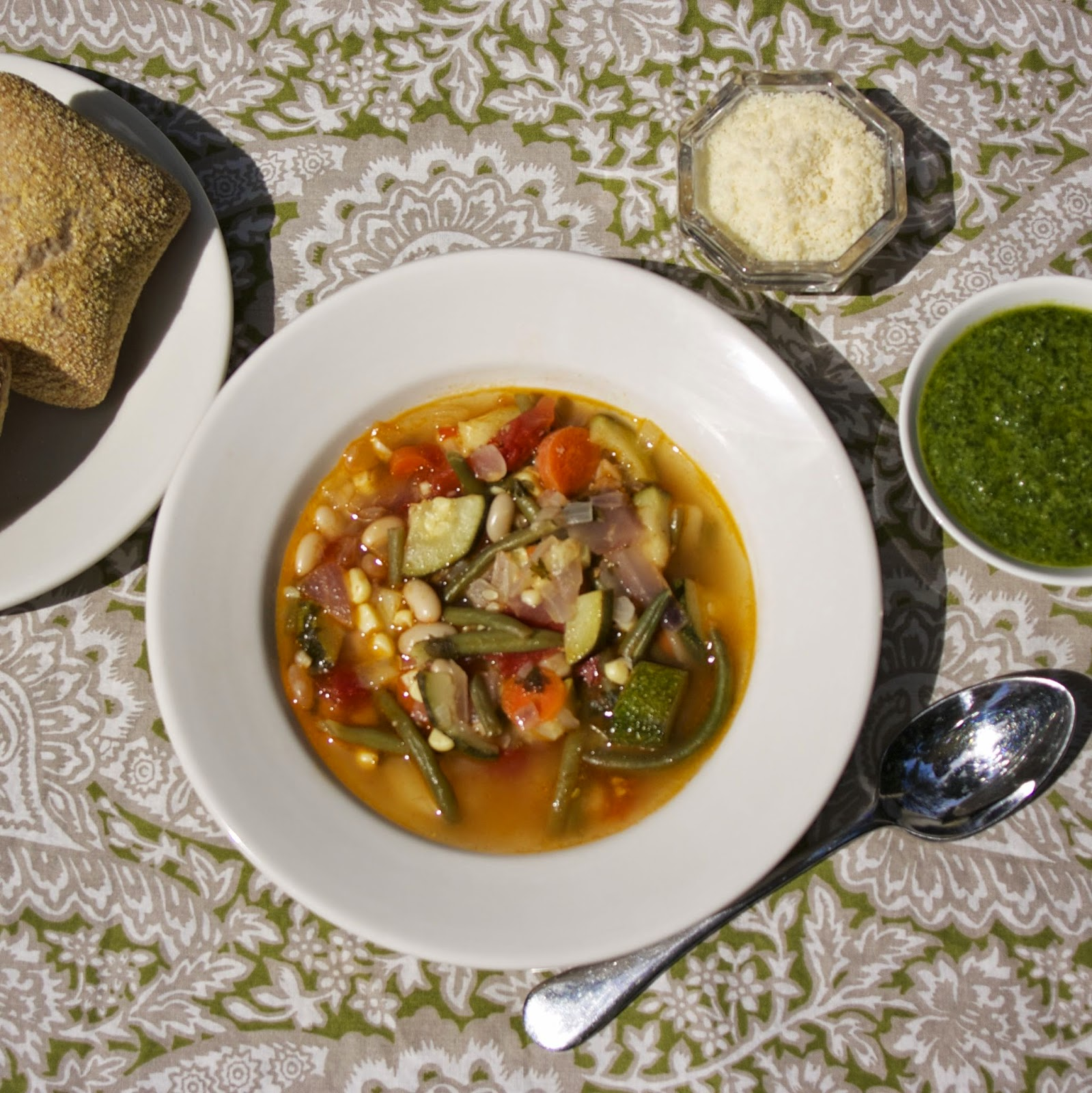 Summer Vegetable Soup: Summer Vegetable Soup: Provencal Vegetable Soup #French