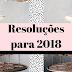 Resoluções para 2018
