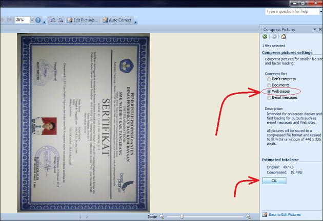 Trik Cara Mengecilkan Ukuran File Microsoft Word Dengan Mudah
