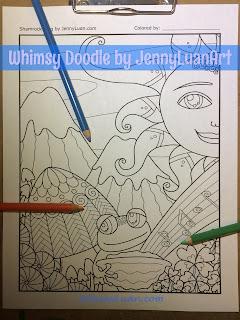 Shamrock Frog Coloring Page by JennyLuanArt