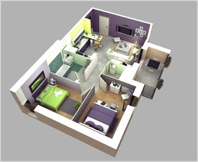 Desain Interior Rumah Minimalis 3D