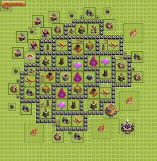 Base Game Clash Of Clans TH 8