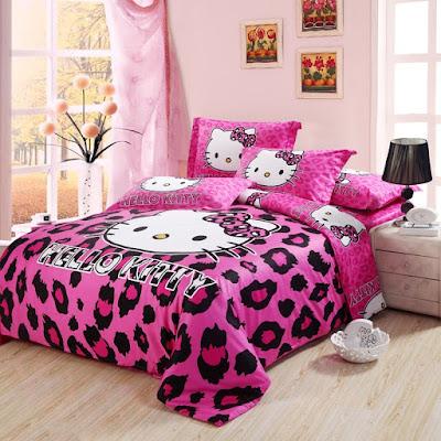Sprei Kamar Tidur Hello Kitty