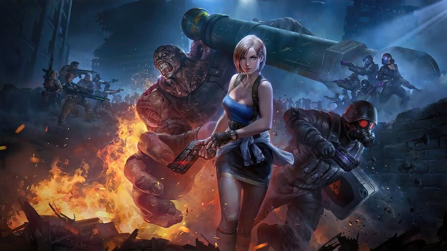 Resident Evil 3 Remake, Jill Valentine, Nemesis, Hunk, 4K, #3.1611