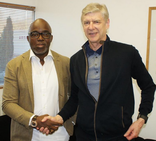 Photos: NFF president Amaju Pinnick met with Arsenal manager Arsene Wenger, FIFA president