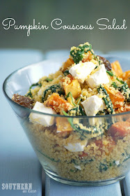 Roasted Pumpkin and Feta Couscous Salad - Gluten Free, Low Fat, Healthy