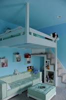 habitacion para niños celeste