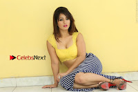 Cute Telugu Actress Shunaya Solanki High Definition Spicy Pos in Yellow Top and Skirt  0284.JPG