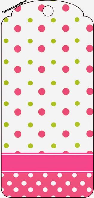 Para marcapáginas de Lunares Rosa, Verde Lima y Blanco.