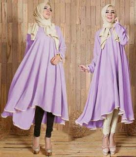 Model Baju Tunik Muslim Terbaru Bahan Adem