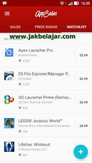 Watchlist - Aplikasi incaran saya