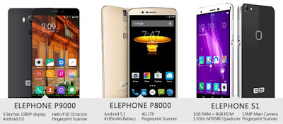 Elephone P9000, P8000 and S1
