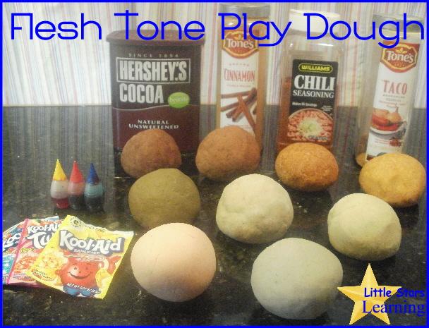 Little Stars Learning: Flesh Tone Play Dough Tutorial