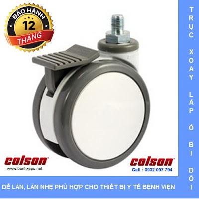 Bánh xe đẩy y tế Colson Mỹ cho máy siêu âm phi 100 | CPT-4854-85BRK4 www.banhxeday.xyz