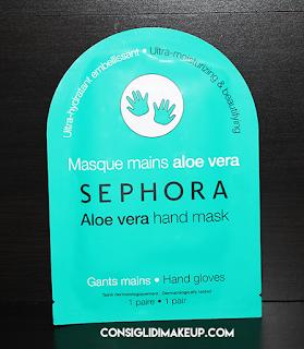 Review: Maschera Mani in tessuto all'Aloe - Sephora