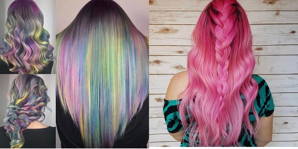 kolorowe włosy 2018
