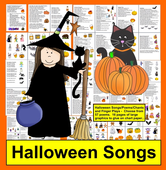 https://www.teacherspayteachers.com/Product/Halloween-Activities-Poems-and-Songs-for-Shared-Reading-and-Fluency-337087