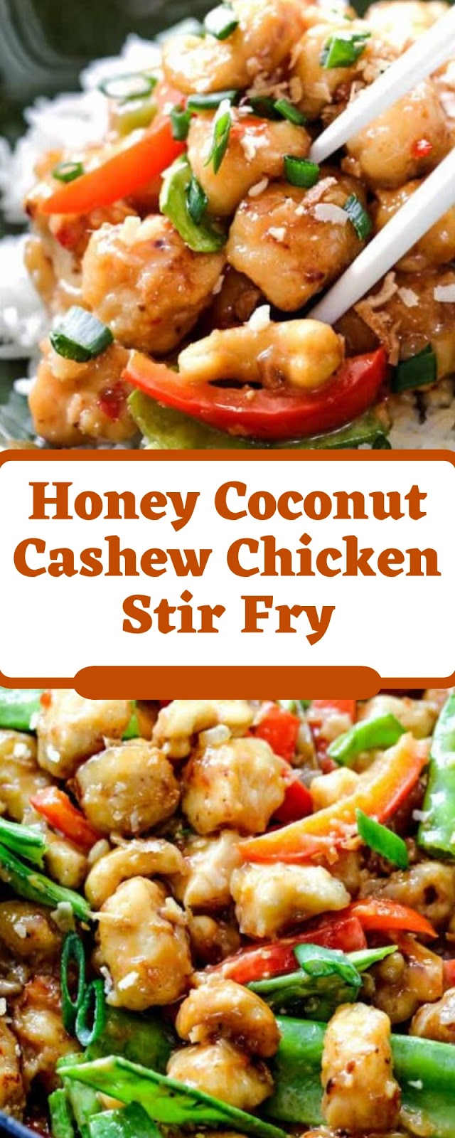 Honey Coconut Cashew Chicken Stir Fry