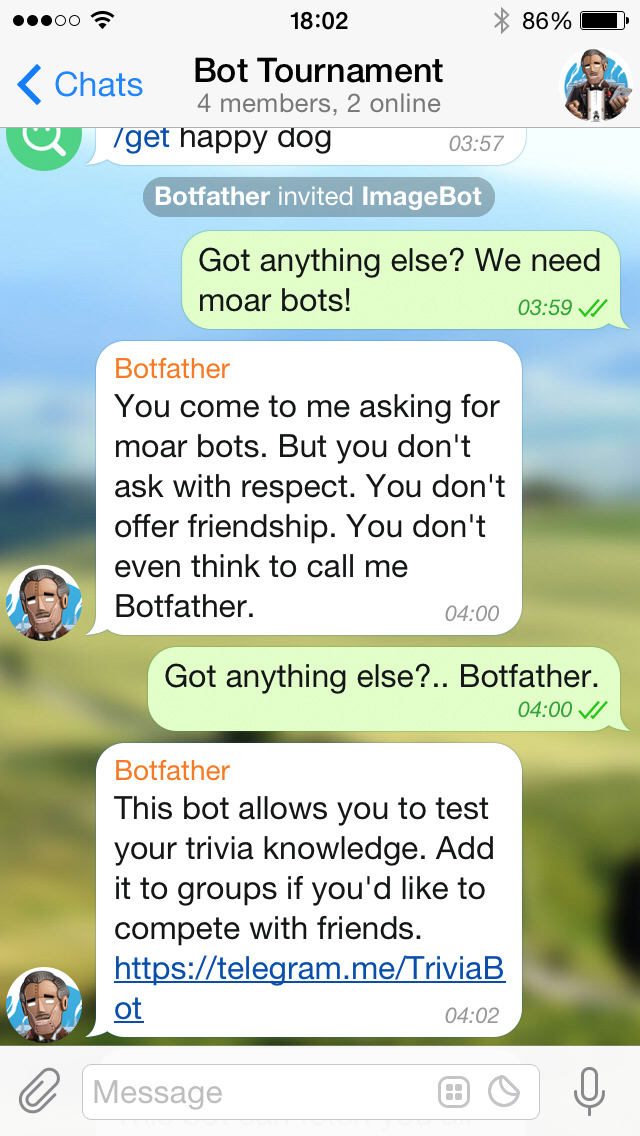 Dating advice chat bot