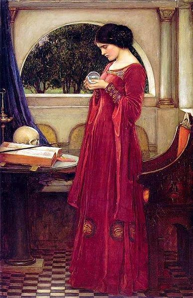 """""""The Crystal Ball"""" painting by John William Waterhouse"""