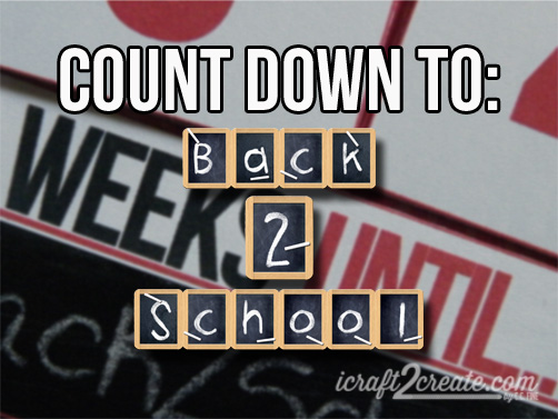Back to School, Fall, Autumn, Advent calendar, flip calendar, count down calendar