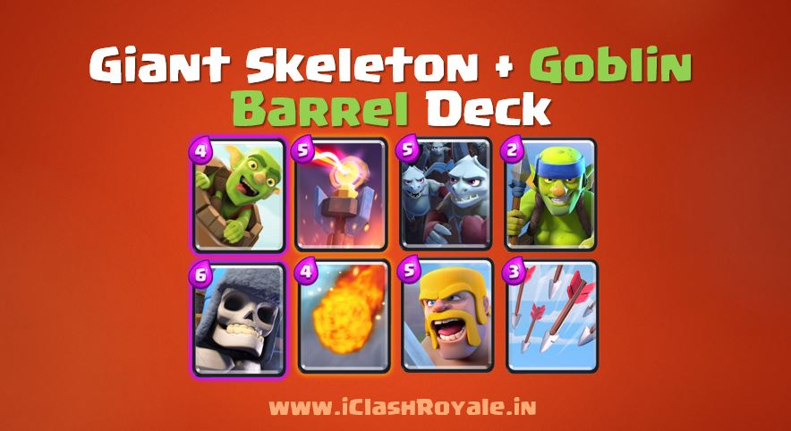 Best Goblin barrel deck in Clash Royale