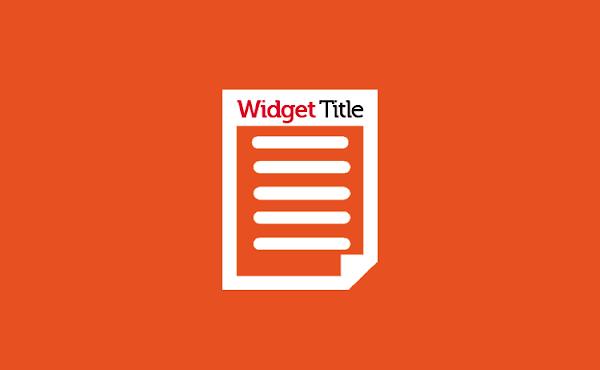 Merubah Warna Kata Pertama pada Title Widget Sidebar