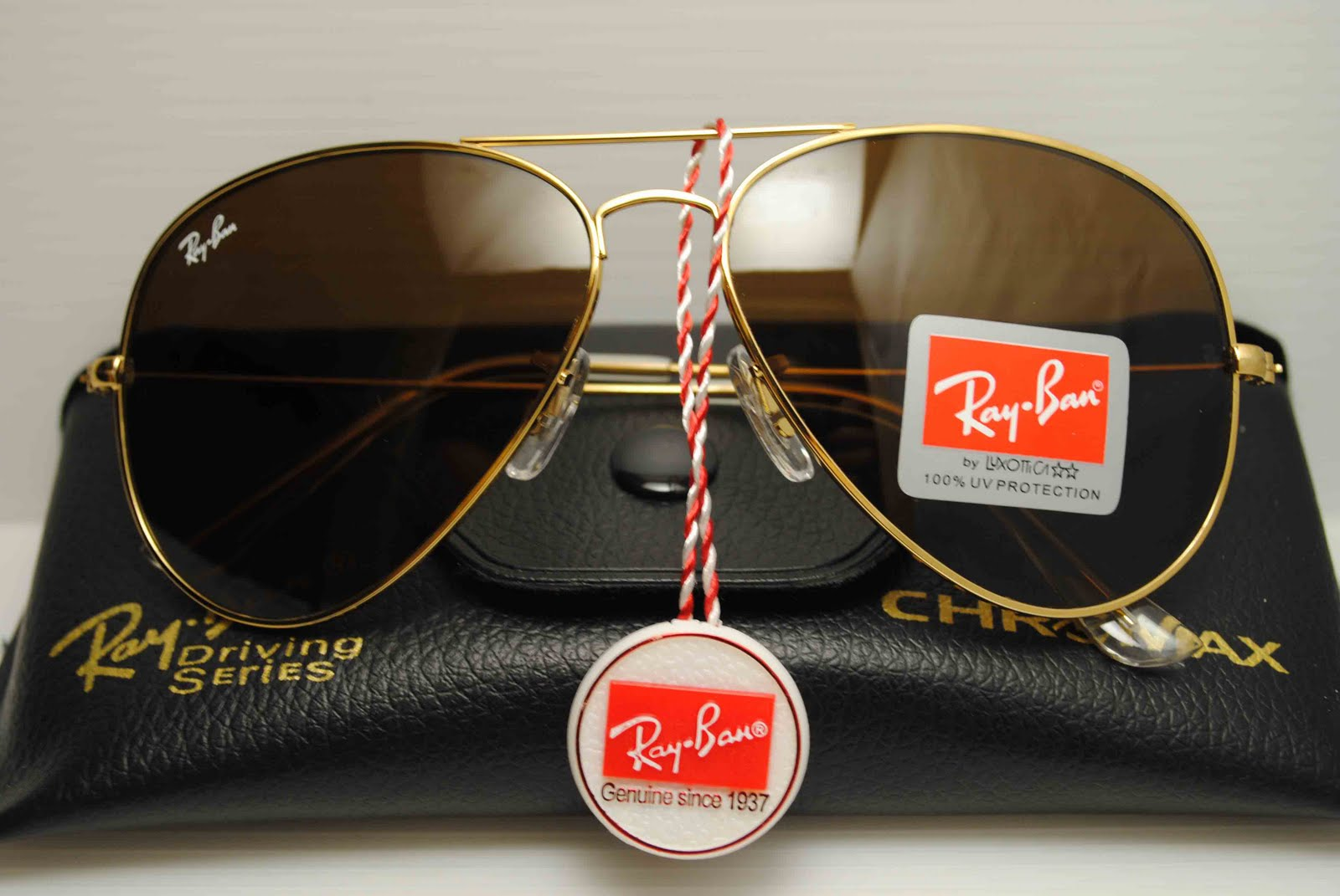 bcd8e5c69b Ray Ban Aviator Gold Brown RM 80