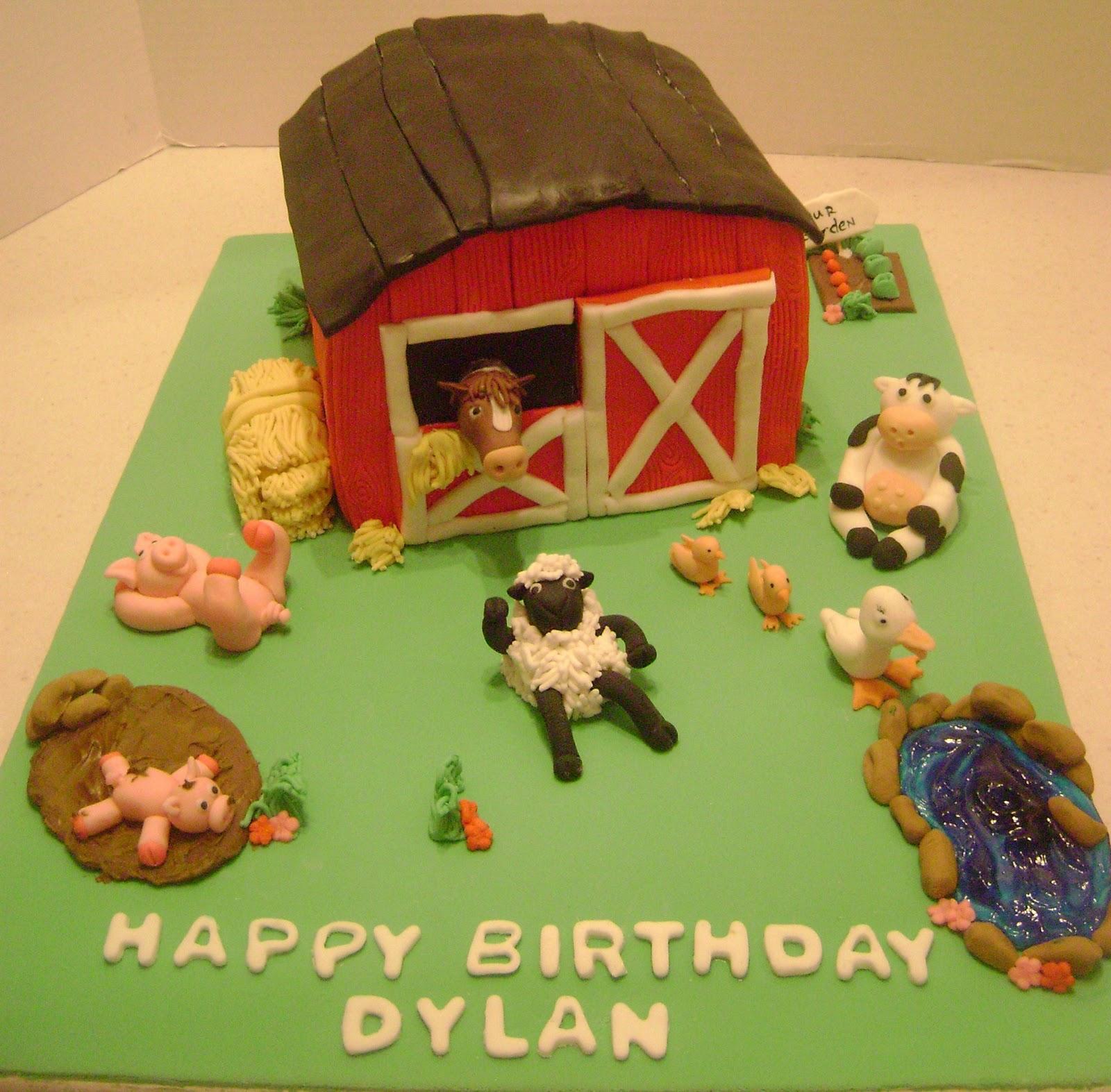 MaryMel Cakes: Farm Birthday Cake
