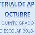 MATERIAL DE APOYO (octubre) 5° PRIMARIA ciclo escolar 2018-2019.