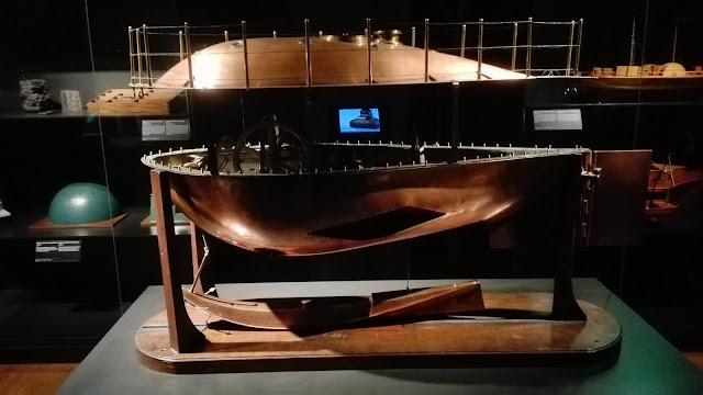 Model van een duikboot uit het RIjksmuseum van Lipkens en Uhlenbeck.