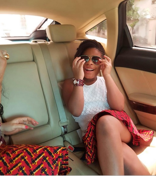 Monalisa Chinda and her daughter rock matching Ankara skirts