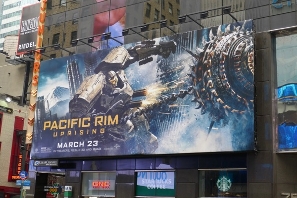 Pacific Rim Uprising Bracer Phoenix billboard NYC