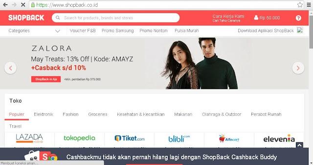 belanja online dapat voucher dan cashback pakai shopback