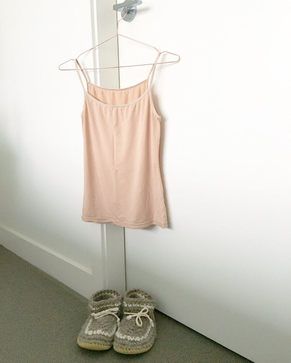 Uniqlo HEATTECH nude camisole
