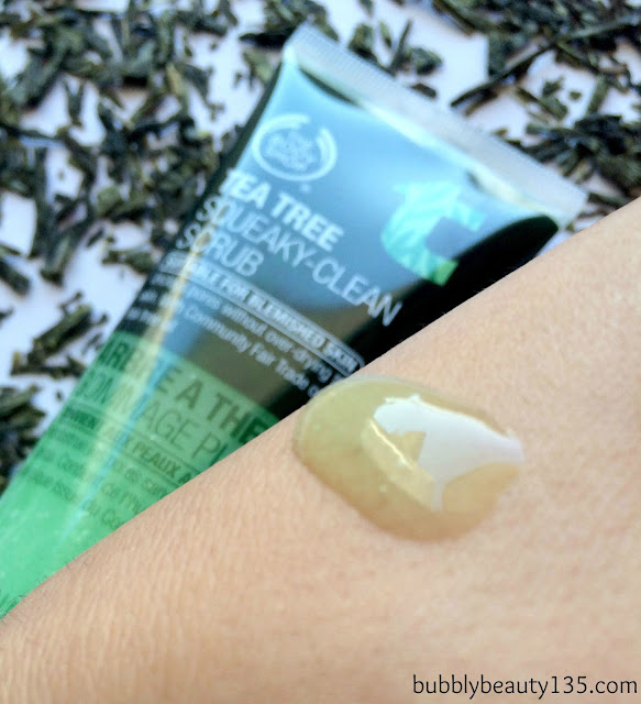Review:Tea Tree Squeaky-Clean Scrub by The Body Shop | bubblybeauty135