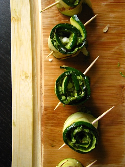 Two Foodies Amp A Pup Grilled Zucchini Pesto Roll Ups