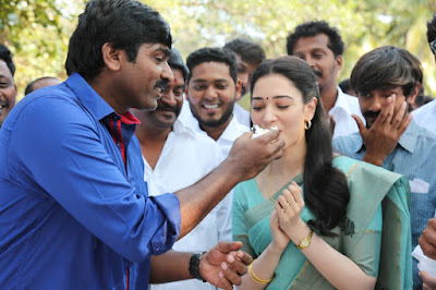 Vijay Sethupathi and Tamannaah in Dharmadurai