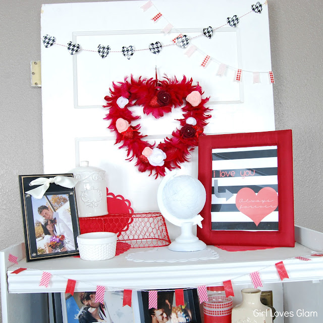 Valentine's Day Decor and Free Printable