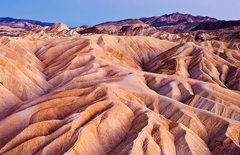 Zabriskie Point is a part of Amargosa Range located east of Death Valley in Death Valley National Park in California, United States noted for its erosional landscape. It is composed of sediments from Furnace Creek Lake, which dried up five million years ago.