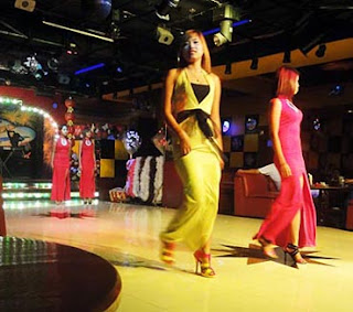 Burmese nightclub models