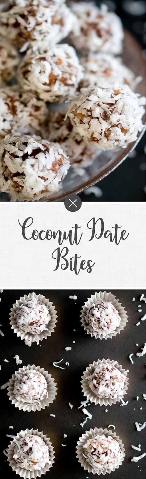 No Bake Coconut Date Bites