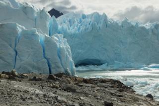 Enormous blue Perito Moreno glacier Argentina